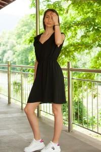 Дамска лятна черна рокля